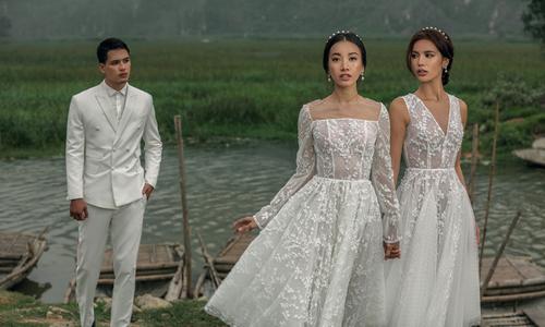 Minh Tú, Phan Linh diện váy cưới khoe sắc giữa cảnh đẹp Ninh Bình
