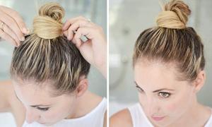 4 cách dùng cặp tăm búi tóc cả ngày không bung