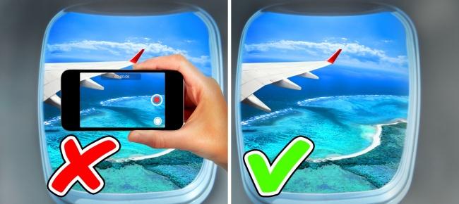 Dùng điện thoại di động: nếu không phải việc cần kíp thì không nên dùng điện thoại khi lên máy bay. Và khi cơ trưởng đã thông báo máy bay chuẩn bị hạ cánh hay cất cảnh thì tuyệt đối không dùng điện thoại.