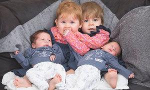 Mẹ Anh đẻ hai cặp sinh đôi trong một năm