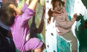 Leo trèo từ lúc 8 tháng, bé gái thành 'người nhện' ở tuổi lên 3