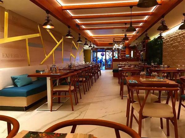 Hình ảnh trong một nhà hàng của Djokovic.