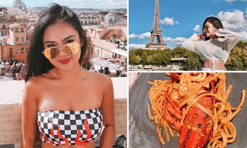 Chuyến đi châu Âu 'đã mắt đã miệng' của cô nàng nấm lùn sexy
