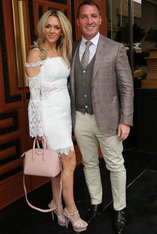 HLV Brendan Rodgers và vợ mới Charlotte.