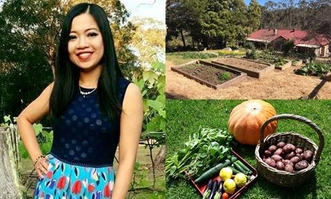 Vườn bậc thang dưới chân núi trồng đủ loại rau của nàng dâu Việt tại Australia