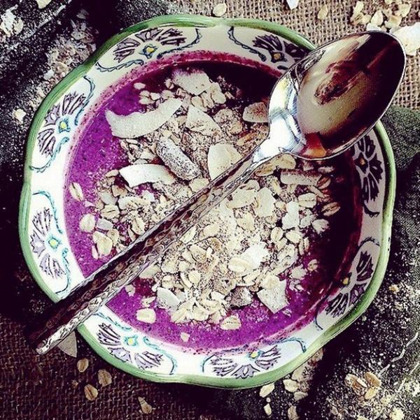 Sinh tố việt quất là bữa sáng nhẹ nhàng mà giàu dinh dưỡng.