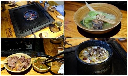Toát mồ hôi với lẩu nướng trên bếp đá ở Lệ Giang, Trung Quốc