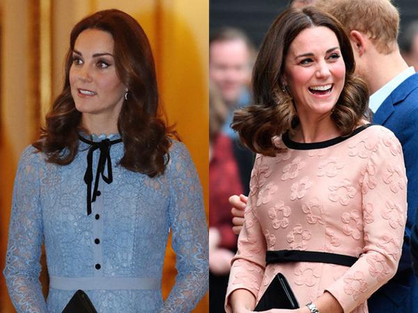 Công nương Kate gây bất ngờ khi xuất hiện với mái tóc bob ngắn uốn xoăn.