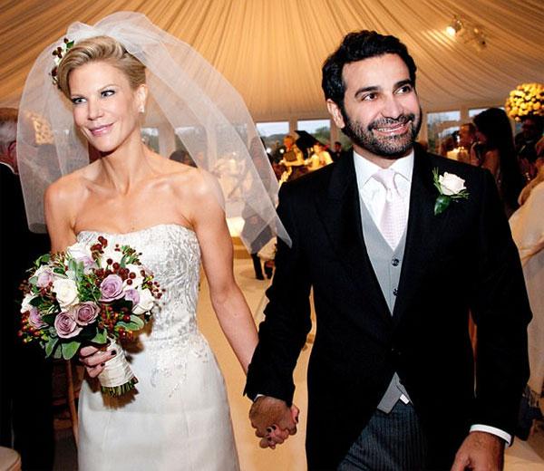 Amanda Staveley và chồng gốc Iran. Ảnh: DM.
