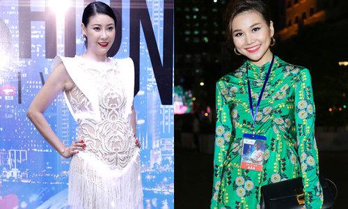 Hà Kiều Anh diện váy tua rua xuyên thấu, Thanh Hằng kín đáo đi sự kiện
