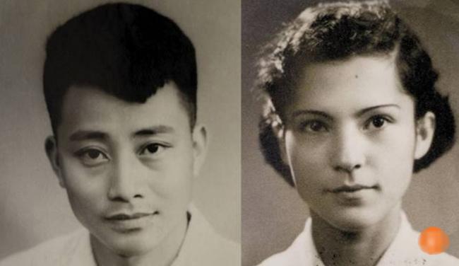 Ảnh thời trẻ của ông Dibao và bà Li.