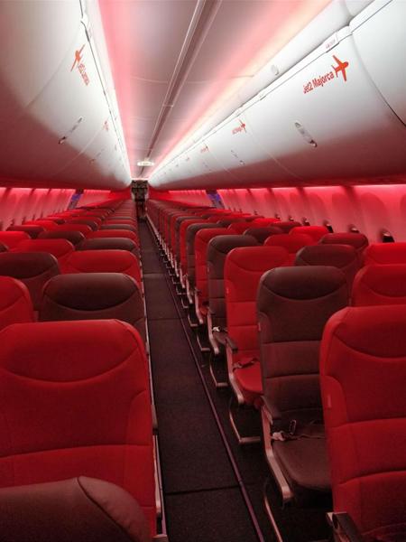 Chiếc máy bay với sức chứa 189 chỗ ngồi nhưng chỉ chở một hành khách duy nhất.