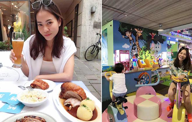 Sau liveshow Phượng Hoàng Lửa, Thu Minh dành toàn bộ thời gian để nghỉ dưỡng bên chồng con ở châu Âu. Suốt ba tháng không đi diễn, cô thường chia sẻ hình ảnh vui chơi, tận hưởng cuộc sống trên Facebook cá nhân.