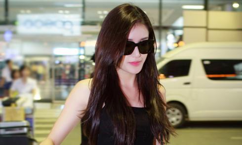 Huyền My lặng lẽ bay về Hà Nội sau chung kết Miss Grand International