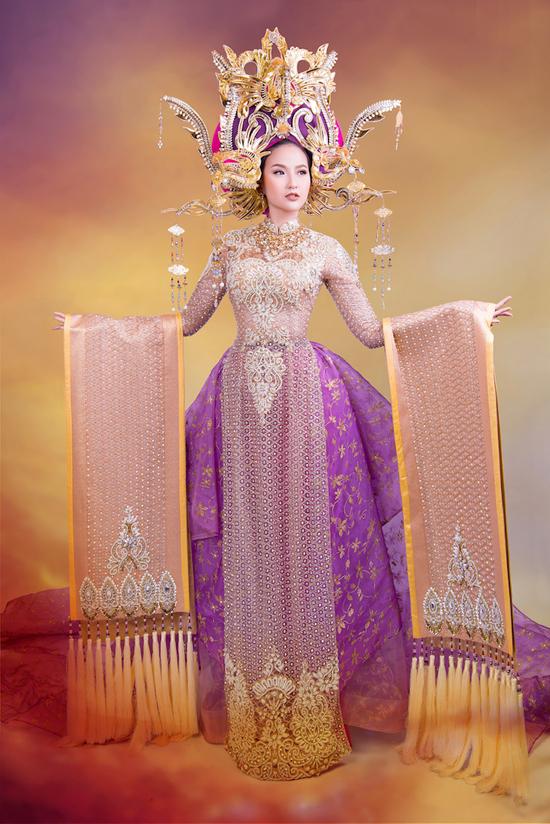 trang-phuc-thi-miss-globe-cua-khanh-ngan-lay-cam-hung-tu-nam-phuong-hoang-hau
