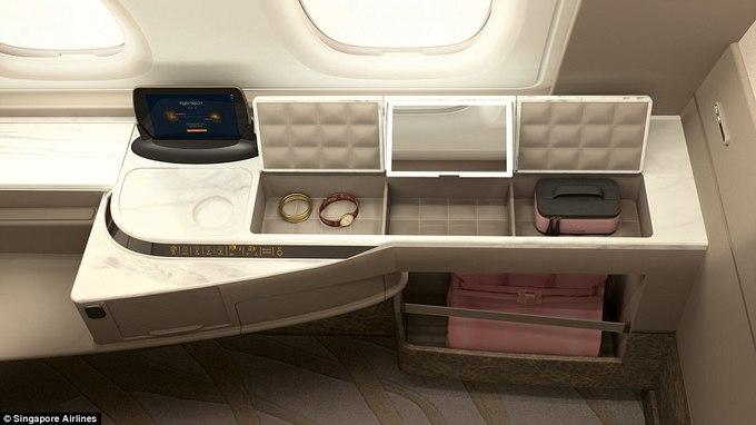 Khoang máy bay giường đôi như phòng khách sạn