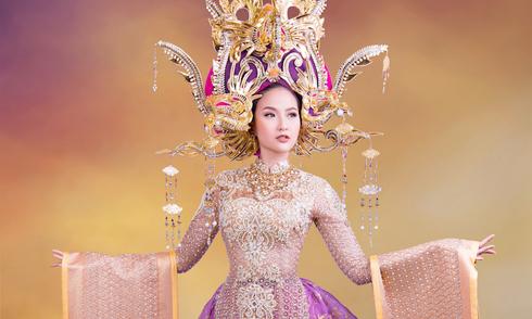 Trang phục thi Miss Globe của Khánh Ngân lấy cảm hứng từ Nam Phương Hoàng hậu