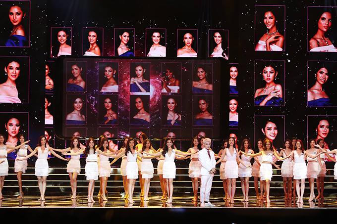 Đêm bán kết Hoa hậu Hoàn vũ Việt Nam 2017 diễn ra tại sân khấu Crown Center, Diamond Bay City, Nha Trang lúc 21h ngày 4/11.