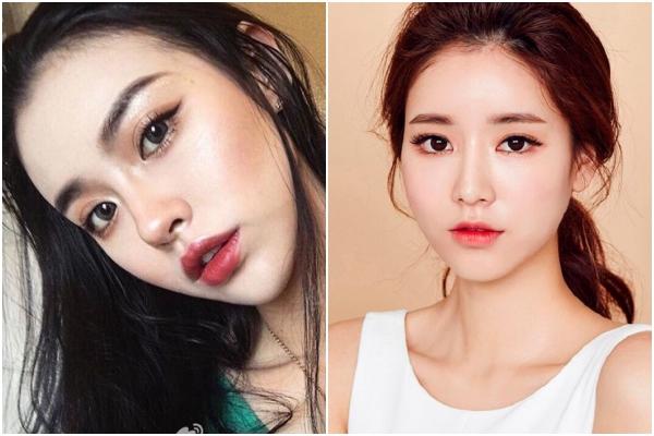 Son môi đậm, tone trầm, thoa tràn bờ môi là kiểu trang điểm ưa thích của các cô gái Nhật. Còn ở Hàn Quốc, các cô gái ưa chuộng màu son tự nhiên, thoa kiểu lòng môi dễ thương.