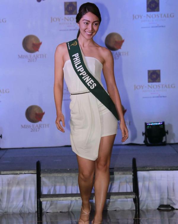 Cô là gương mặt nổi bật trong dàn thí sinh Hoa hậu Trái đất Phillippines.