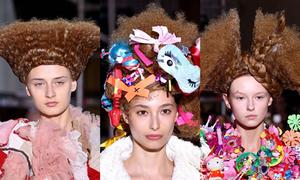 Những kiểu tóc 'quái chiêu' nhất trong các tuần lễ thời trang xuân hè 2018