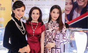 Ngô Thanh Vân, Diễm My diện trang sức ngọc trai tại buổi ra mắt 'Cô Ba Sài Gòn'