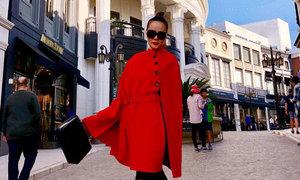 Dương Yến Ngọc dạo phố như trình diễn thời trang ở Mỹ