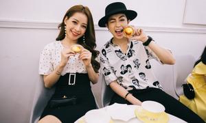 Sao Việt dự lễ ra mắt tiệm bánh tart phô mai Nhật Bản tại TP HCM