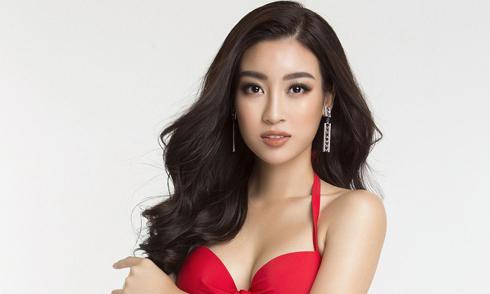 Hoa hậu Đỗ Mỹ Linh khoe đường cong với áo tắm