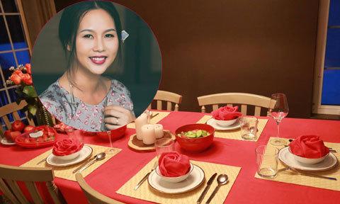 Nữ họa sĩ 'giữ lửa' gia đình bằng cách bày bàn ăn như khách sạn