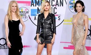 Dàn sao 'đổ bộ' trên thảm đỏ lễ trao giải âm nhạc Mỹ