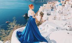 Hương Giang Idol khoe dáng ở Hy Lạp