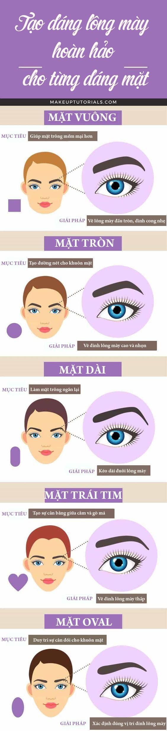 4 giải pháp tạo dáng lông mày khắc phục nhược điểm khuôn mặt