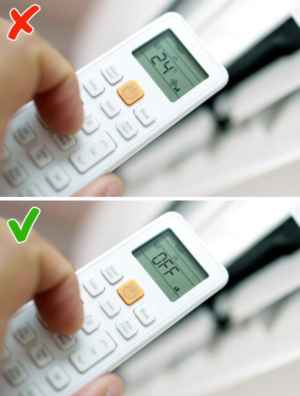 Hạn chế sử dụng điều hòa nhiệt độ vì bầu không khí khô cũng sẽ khiến da mất độ ẩm.