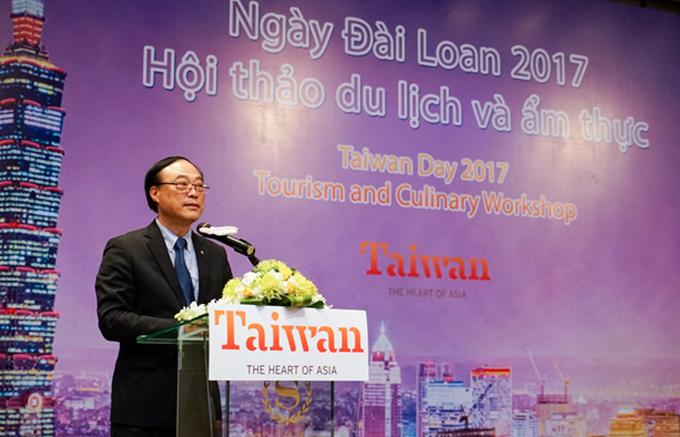 Ông Zhou Yong-Hui, Cục trưởng Cục Du lịch Đài Loan phát biểu tại hội thảo