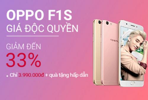 Các tín đồ của công nghệ có thể tìm đến khuyến mại độc quyền của Oppo F1s có giá 5.999.000 đồng giảm còn 3.990.000 đồng tại Shop VnExpress, tặng thêm ốp lưng và dán màn hình chính hãng cùng combo balo - giày thời trang.