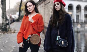 Phối áo len đúng xu hướng thời trang 2017