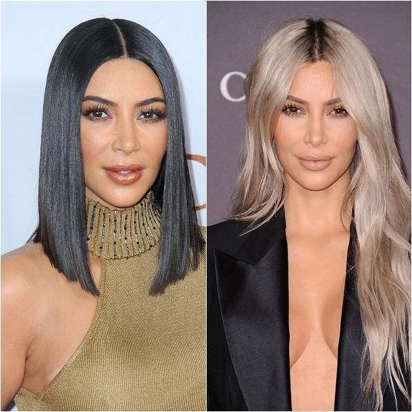 Mái tóc bạch kim tuyệt đẹp của Kim Kardashian được bình chọn là kiểu tóc đẹp nhất của năm 2017.