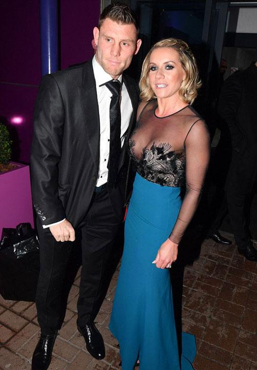 James Milner và vợ,
