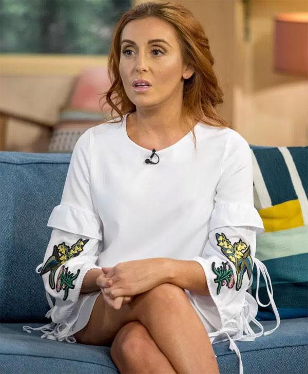 Laura Simpson trong một lần lên truyền hình kể về quan hệ với Rooney.