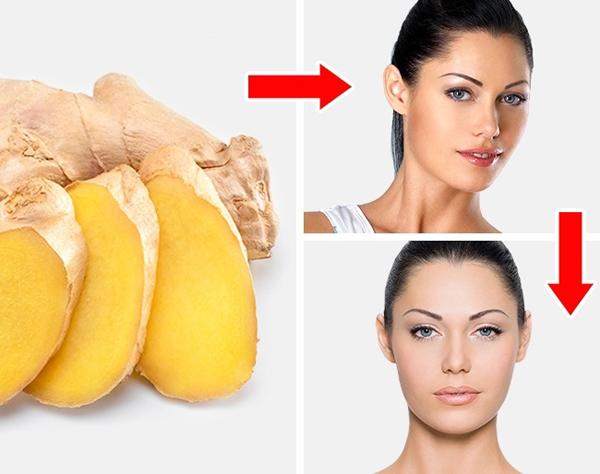 Trộn gừng, mật ong và nước cốt chanh với tỷ lệ tương đương thành mặt nạ, thoa lên da đã làm sạch, để khoảng 20 phút rồi rửa với nước mát. Hỗn hợp này giúp cải thiện sắc tố da, làm mờ vết thâm do mụn để lại hiệu quả.