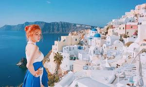 4 điều khiến bạn muốn tới Santorini ngay sau khi xem MV của Hương Giang Idol
