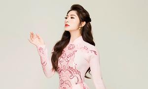 Diễn viên Thanh Trúc giới thiệu 5 mẫu áo dài cưới pastel dịu dàng