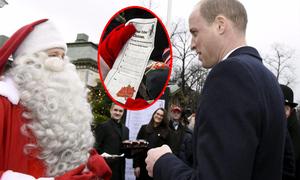 William tới Phần Lan để trao điều ước của George cho ông già Noel