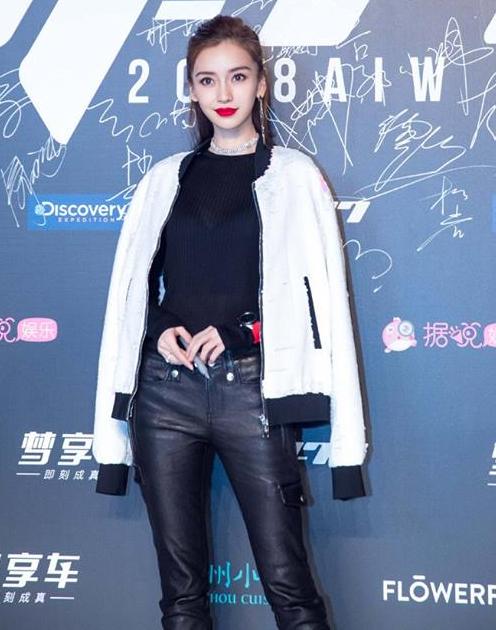 Ngày 5/12, Angelababy dự buổi ra mắt thương hiệu M-77 Too Cool For Boys do chồng cô - Huỳnh Hiểu Minh làm