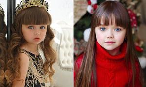 Mẫu nhí 6 tuổi người Nga được ca ngợi là bé gái đẹp nhất thế giới