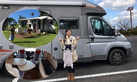 """Đôi vợ chồng Việt – Nhật cùng con rong ruổi trên """"ngôi nhà di động"""" tiền tỷ"""