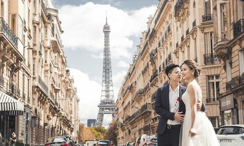 Bộ ảnh cưới 'chuyện tình Paris' của cặp đôi đồng tính nữ Hà Nội