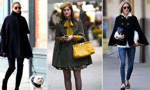 Mix áo cape đẹp đúng điệu như 'tiểu thư thời trang' Olivia Palermo