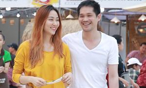 Ngân Khánh và chồng đại gia ôm eo nhau đi chơi